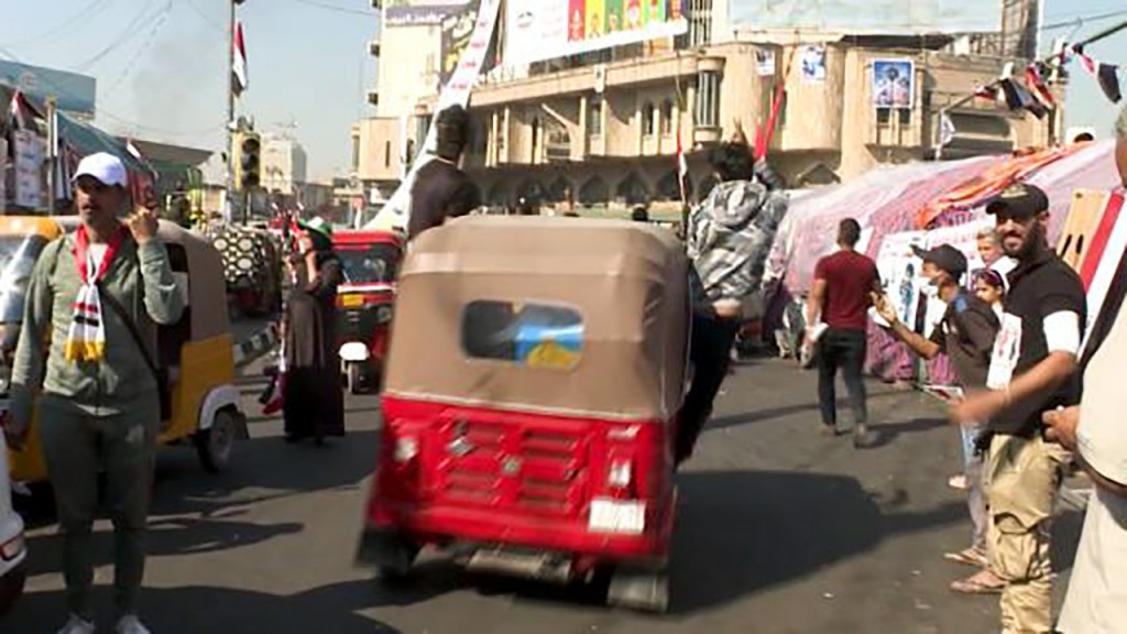Tuk-tuk becomes symbol of uprising for Iraq's protesters