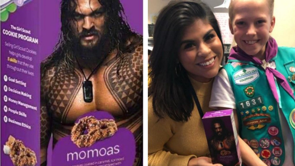 Girl Scout turns cookies into 'Momoas' to honor 'Aquaman' star