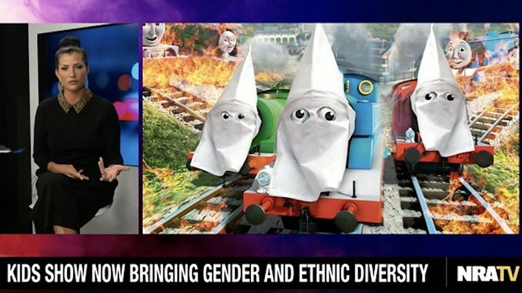NRA depicts 'Thomas & Friends' characters in KKK hoods