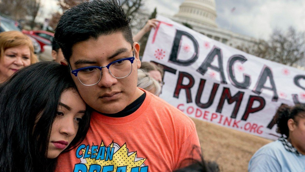 Appeals court judges question Trump move to end DACA