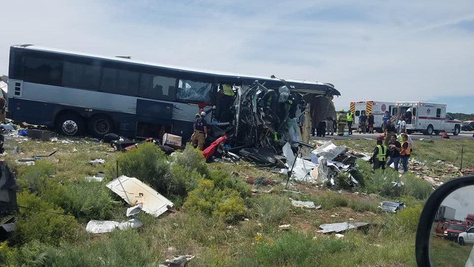 Woman who survived New Mexico bus crash gives birth to twins, hospital official says