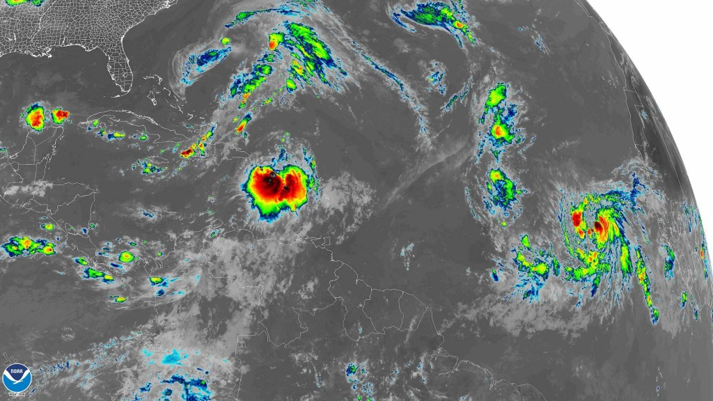 3 tropical systems spinning in Atlantic