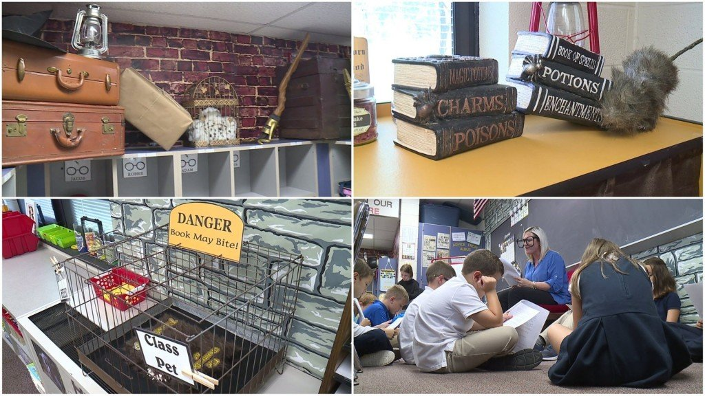 Harry Potter-themed classroom inspires students