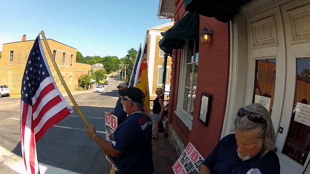Red Hen restaurant reopens amid protests