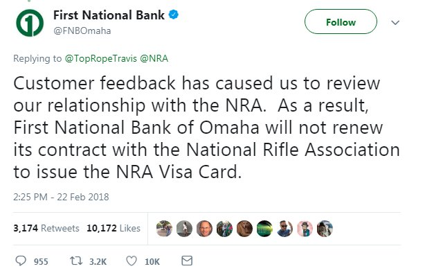 Companies taking action on guns