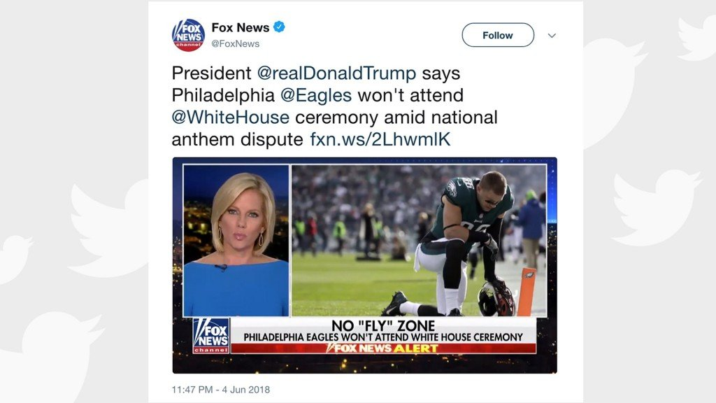 Fox News ripped for misleading photos of Eagles players kneeling