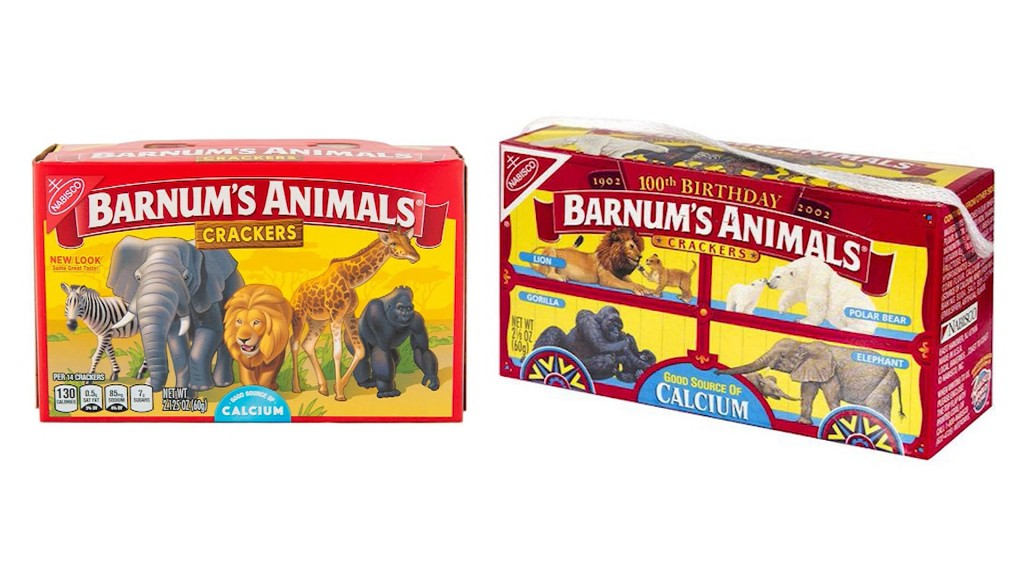 Barnum's lets its animal crackers roam free with a box redesign