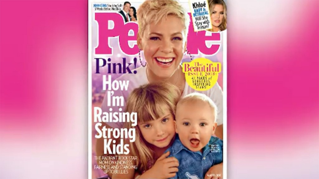 Pink and kids 'Beautiful' People cover stars