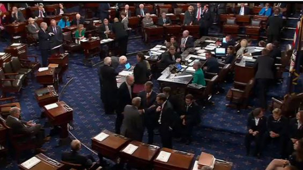 Senate rejects spending cuts package, a White House priority