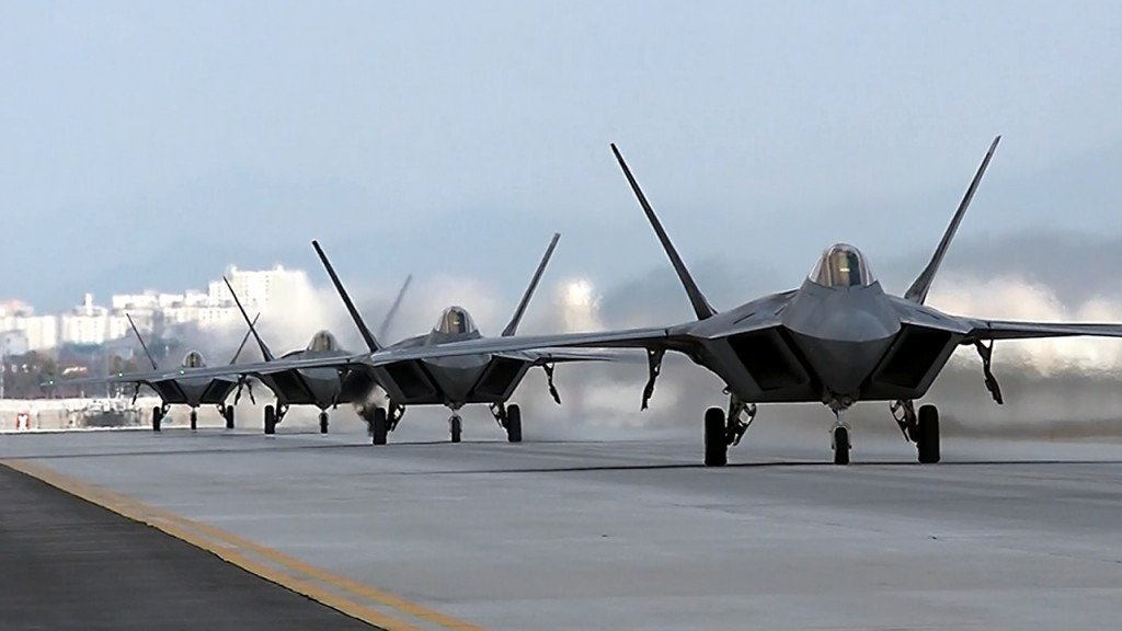 US masses stealth jets in South Korea for war games