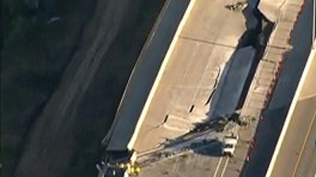 Major crack closes U.S. Highway 36 in Colorado