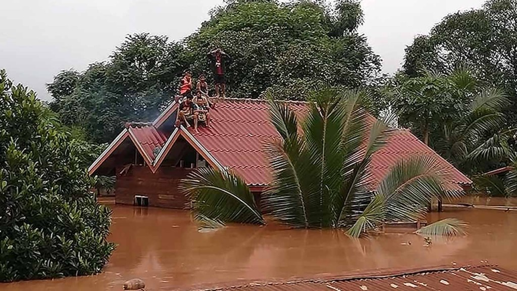Hundreds missing in Laos after dam breaks