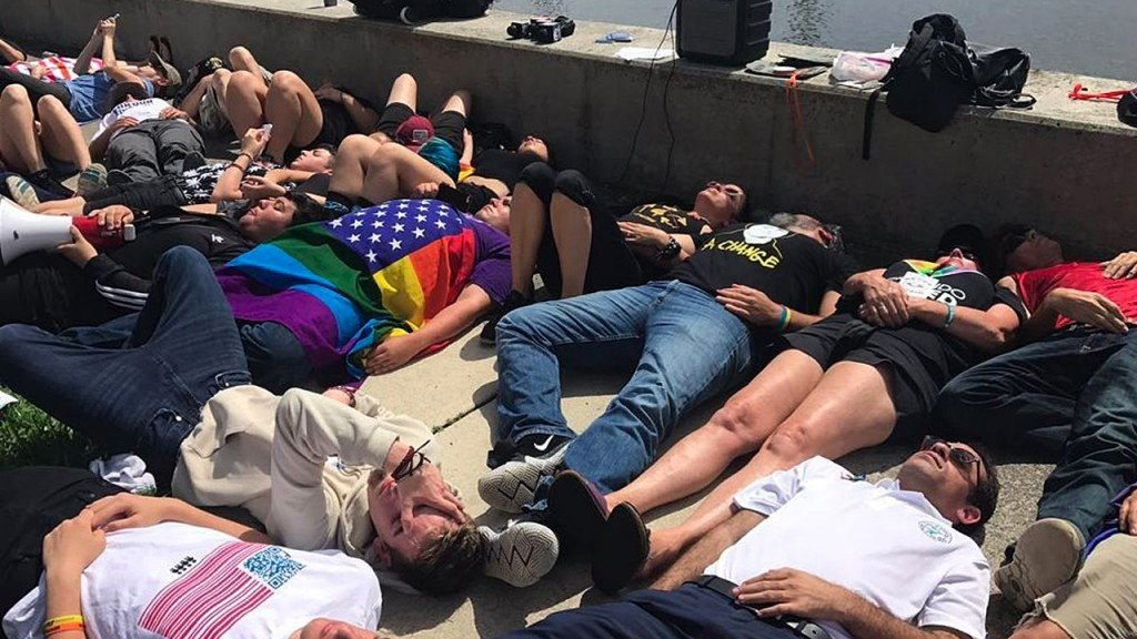 Students lead calls for gun law reform on National Die-In Day