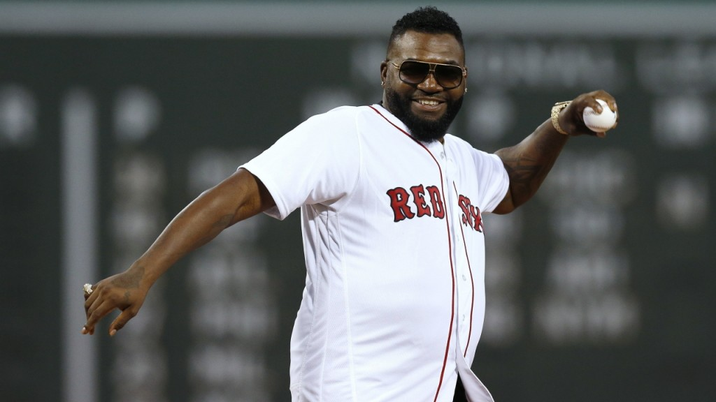 David Ortiz throws out ceremonial first pitch at Fenway Park
