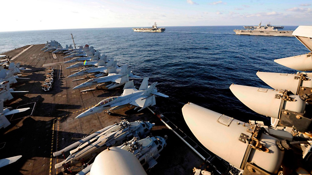 3 carriers operate in Pacific in show of force