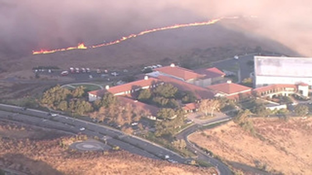 California wildfire nears Reagan Library
