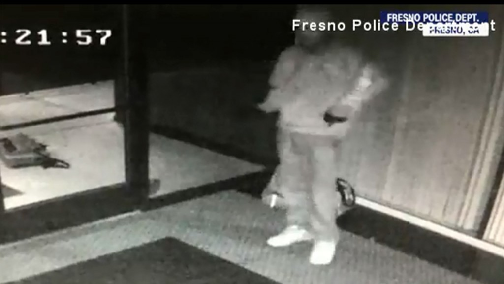 Security footage shows man dancing after breaking into business