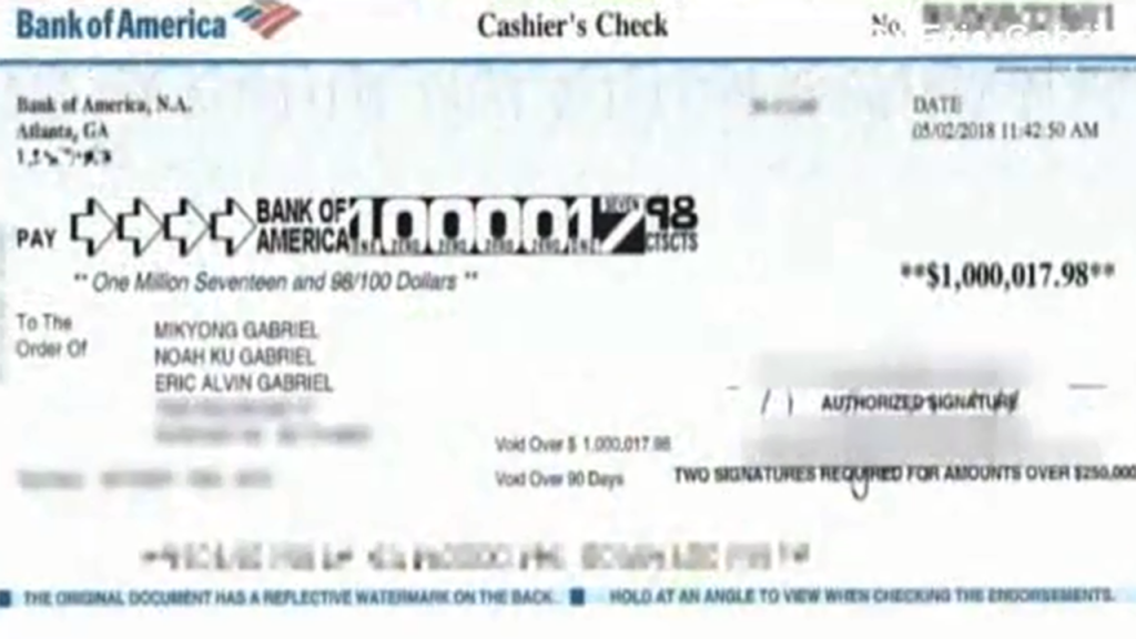 Family returns $1M check sent to them by accident