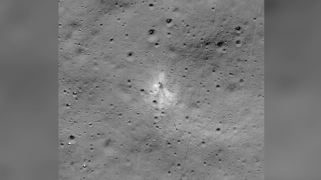 India's crashed lunar lander site spotted on moon