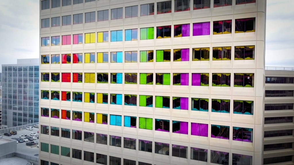 Cincinnati company makes Pride mural out of 26,000 Post-It notes