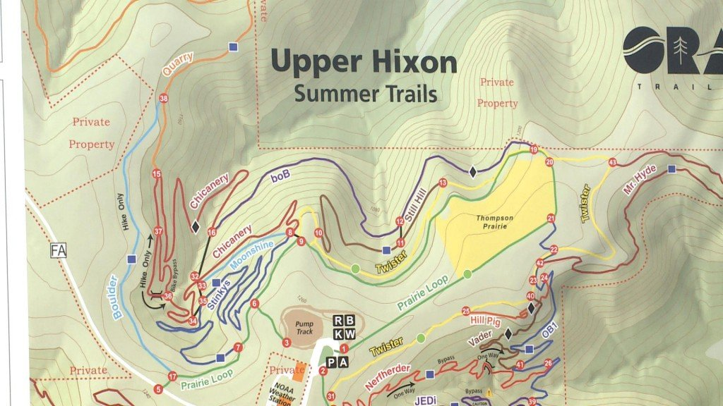 Some Hixon Trails Open