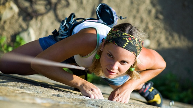 Rock climbing can help overcome fear, defeat depression