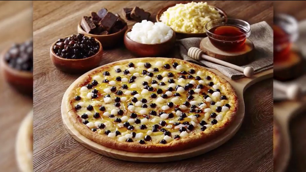 Domino's puts bubble tea bubbles on pizza and people don't hate it