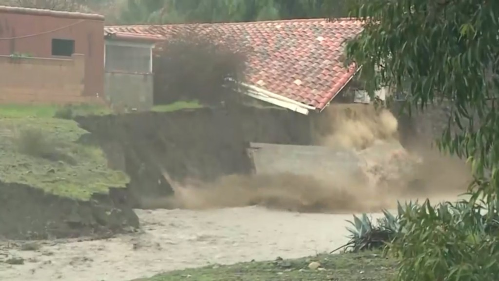Strong storm drenches California, unleashing mudslides, flooding