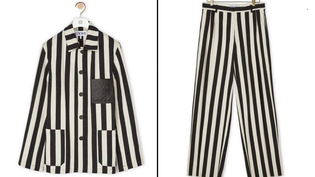 Loewe pulls outfit resembling concentration camp uniforms