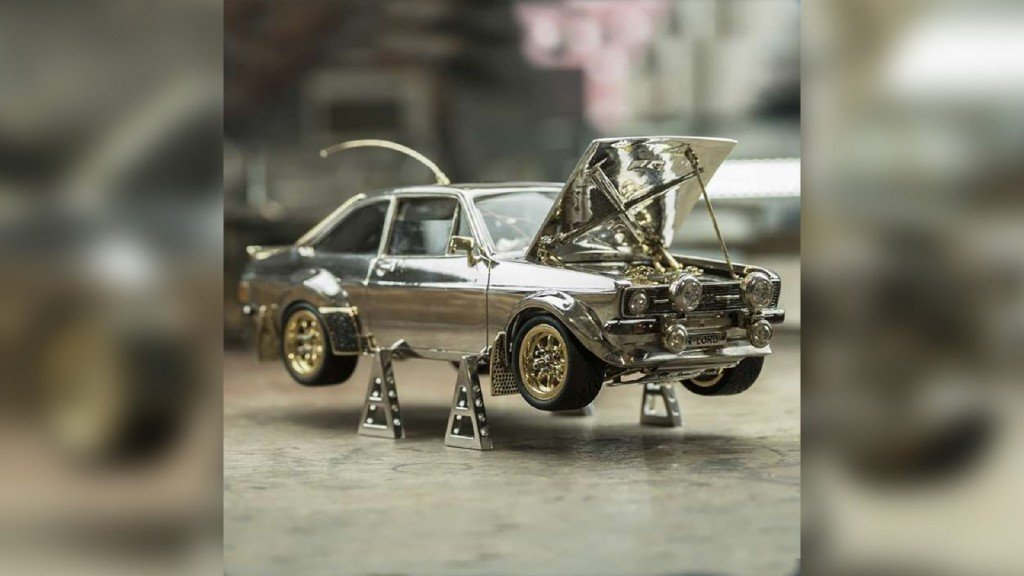 Jewel-encrusted model Ford Escort up for auction