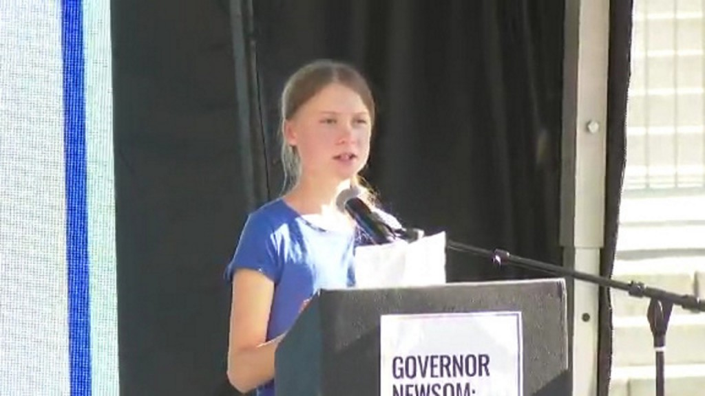 Greta Thunberg leads climate march through LA