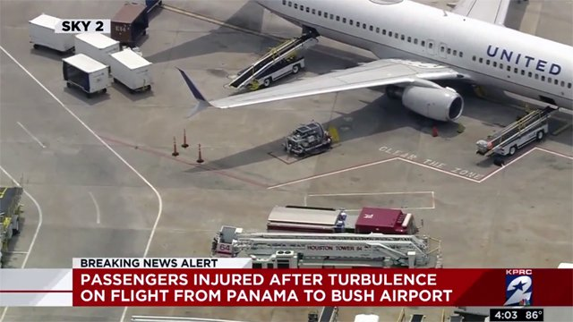 Turbulence injures 10 on United Airlines flight