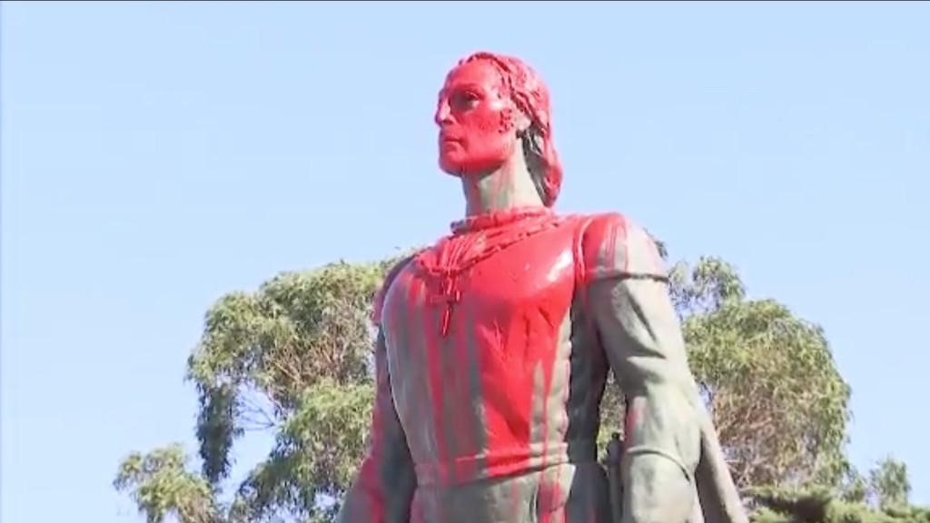 Christopher Columbus statues vandalized in 2 states