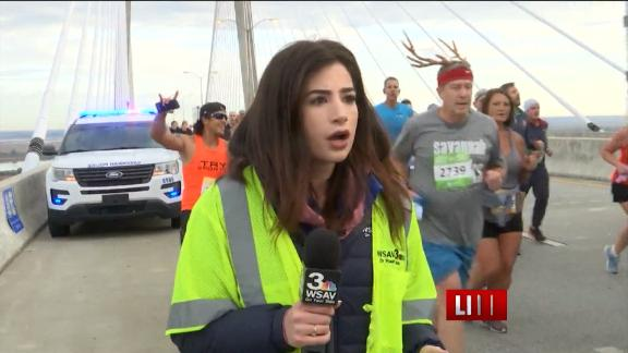 Runner hit anchor's rear on TV, faces charges