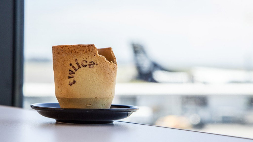 Air New Zealand tests edible coffee cups on board