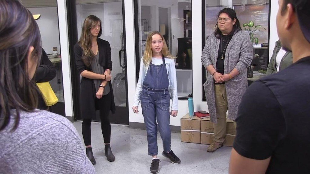 Young girl teaches active-shooter training to grownups
