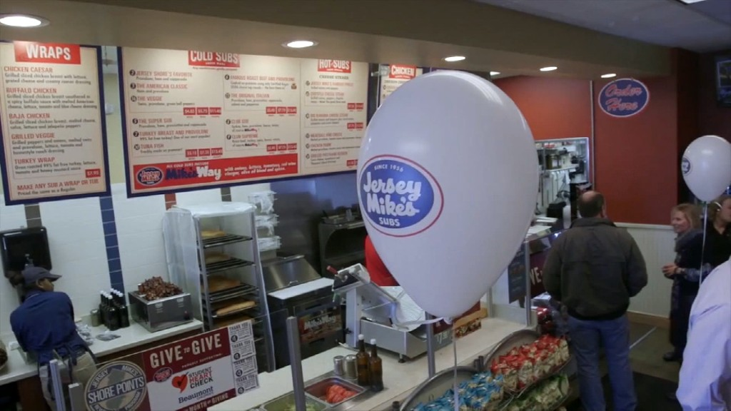 Jersey Mike's Subs donating sales to charity on Day of Giving