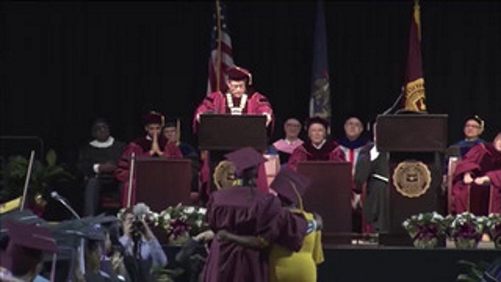 Mother skips own graduation for son's, gets surprise