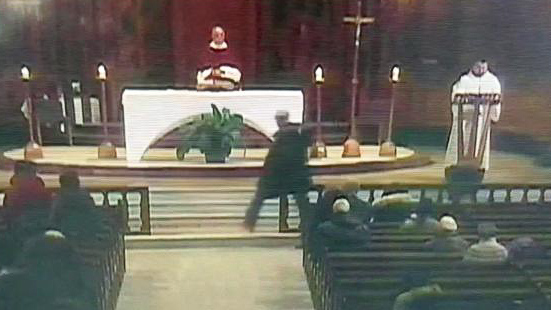 Priest stabbed while leading televised Mass in Montreal