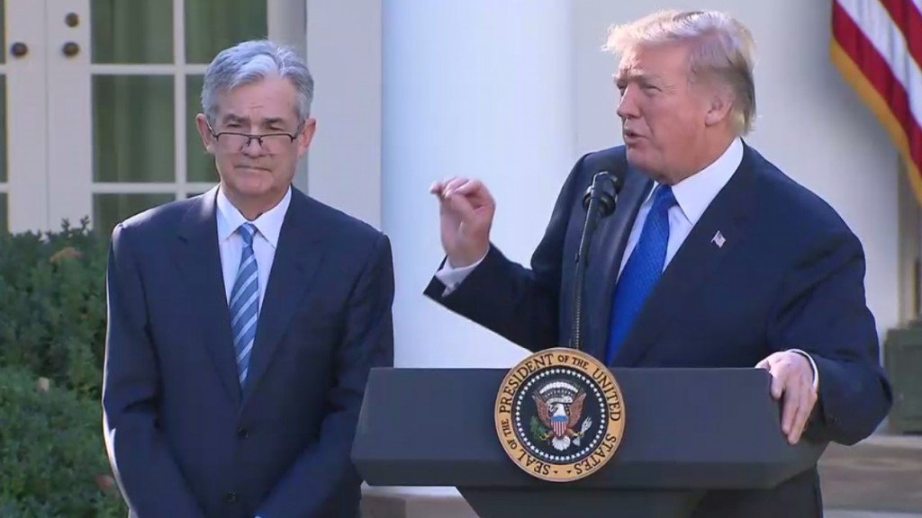 Jerome Powell says Fed likely to hike rates in December