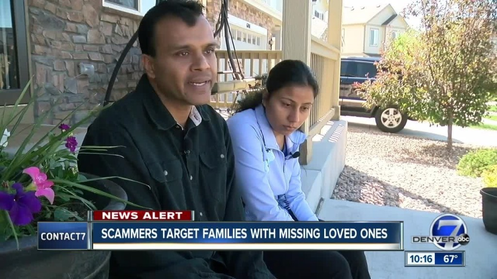 New scam targets the parents of missing Colorado children