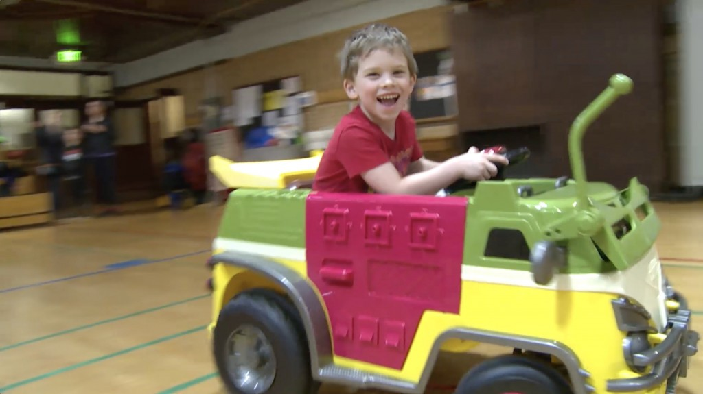 Program swaps kids' wheelchairs for toy cars