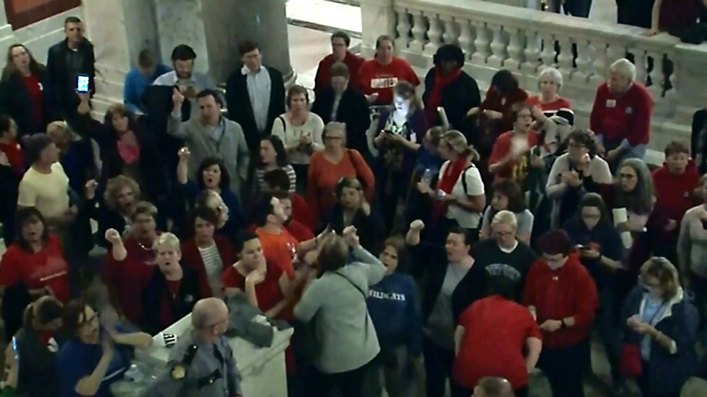 Kentucky teachers fight back after lawmakers' 'bait and switch'