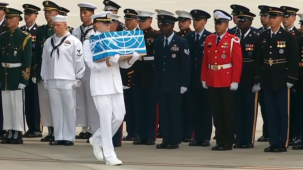North Korea hands over the possible remains of American war dead