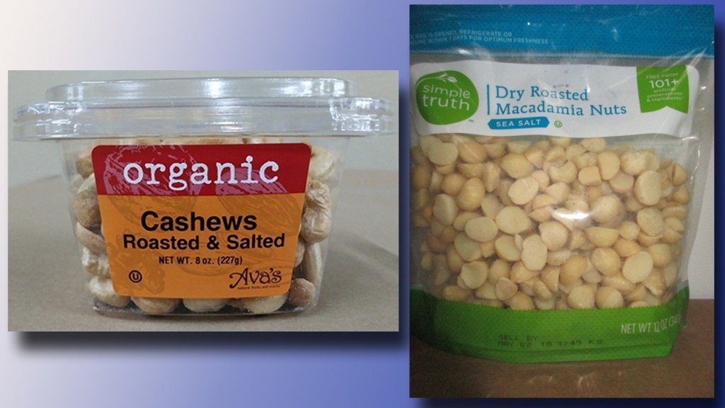 Macadamia nuts, cashews recalled for possible listeria contamination