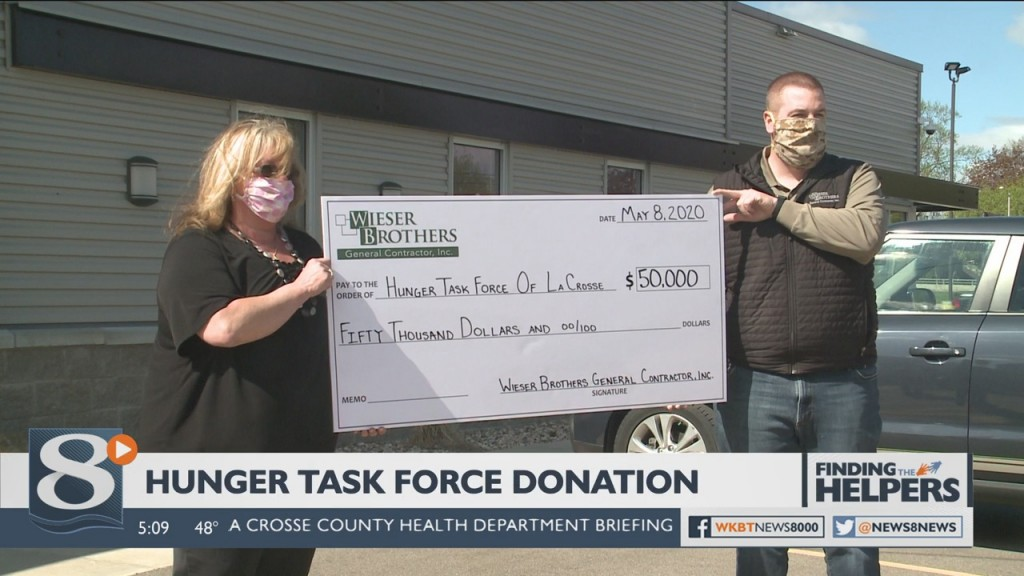 Wieser Brothers Is Donating 50 Thousand Dollars To The Hunger Task Force