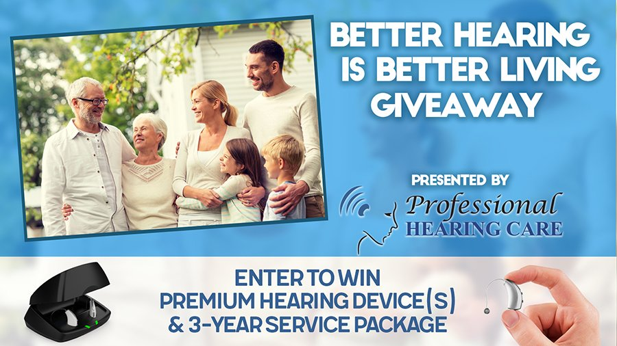Phc Better Hearing Is Better Living Giveaway Contest Header