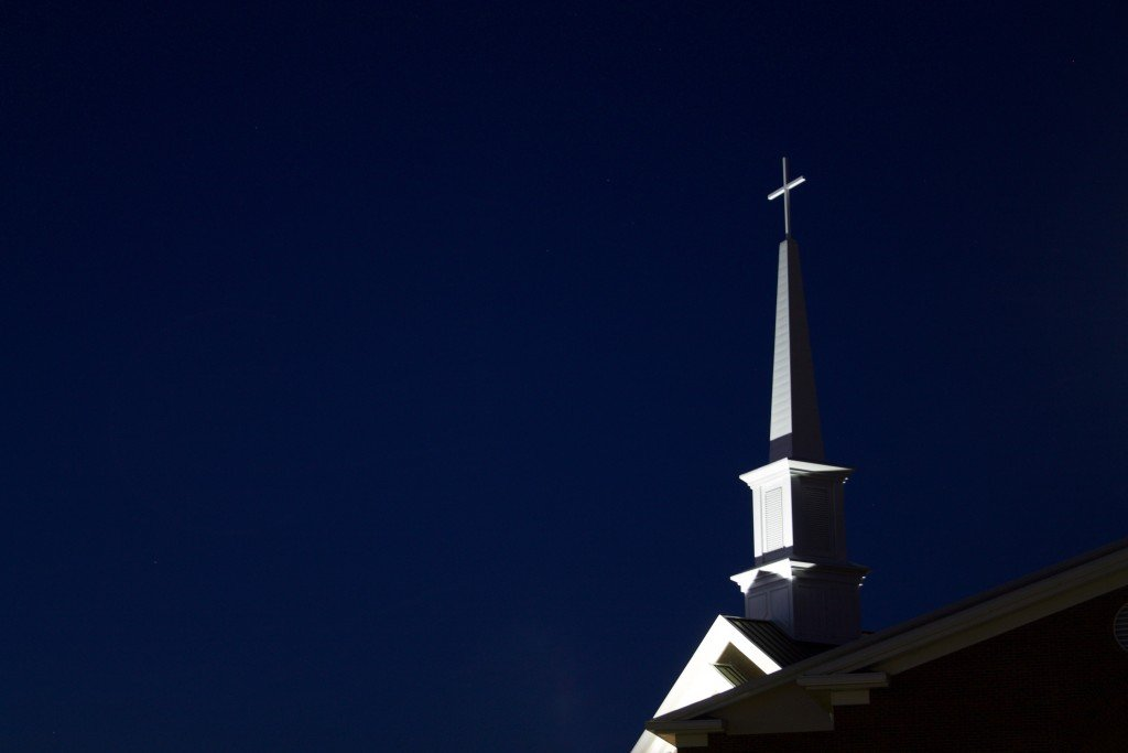 Low Angle View Of Cross Against Sky At Night 257030