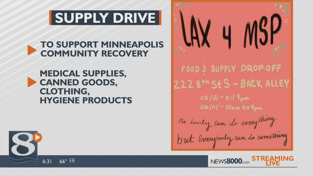 Food And Supply Drive In La Crosse Supports Devastated Minneapolis Community