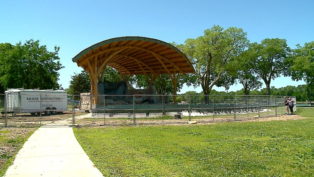 Bandshell Nears Completion